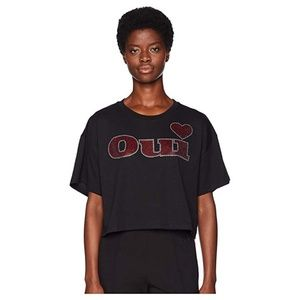 The Kooples Cotton Embellished 'Oui' Tee
